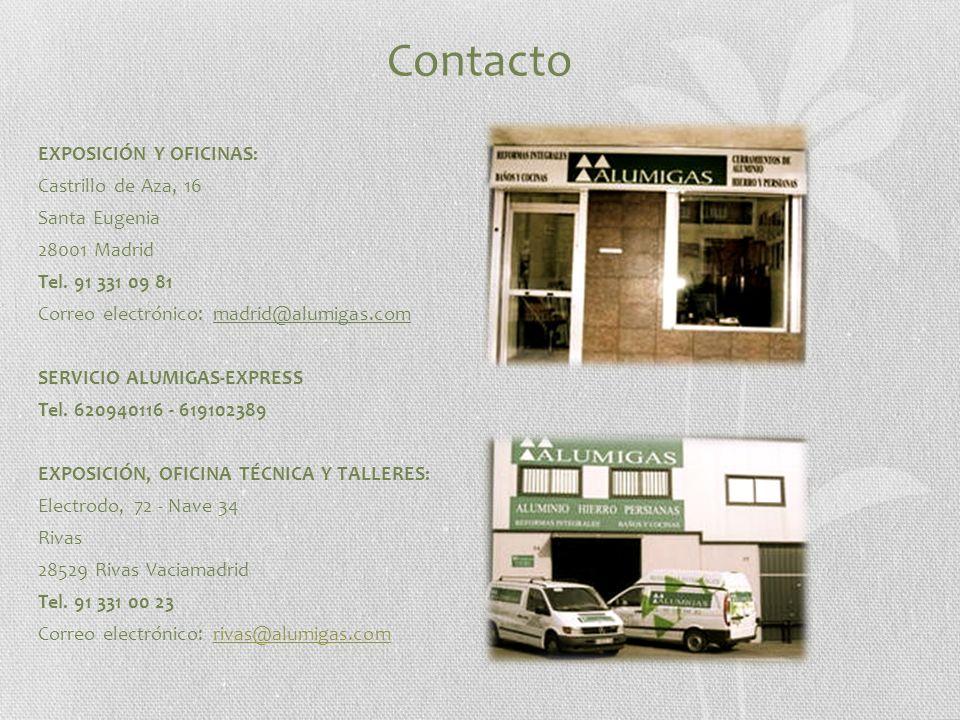 Contacto EXPOSICIÓN Y OFICINAS: Castrillo de Aza, 16 Santa Eugenia 28001 Madrid Tel.