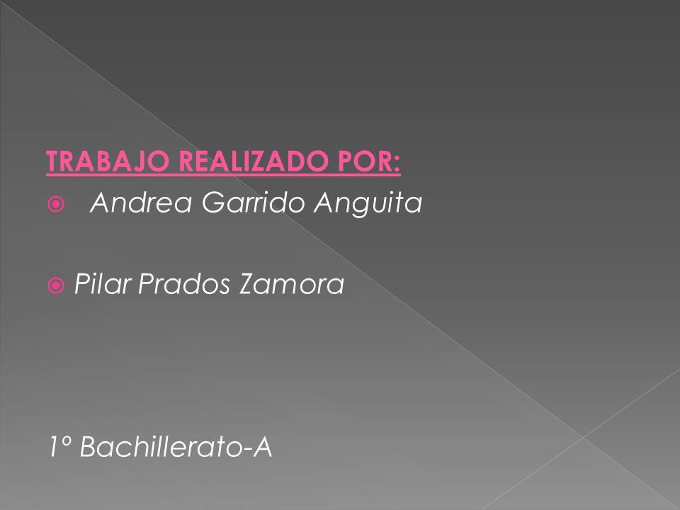 TRABAJO REALIZADO POR: Andrea Garrido Anguita Pilar Prados Zamora 1º Bachillerato-A