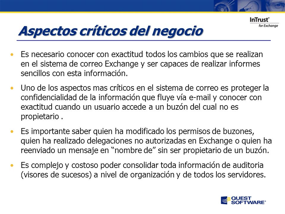Copyright © 2007 Quest Software Seguridad y Auditoria en Exchange Server