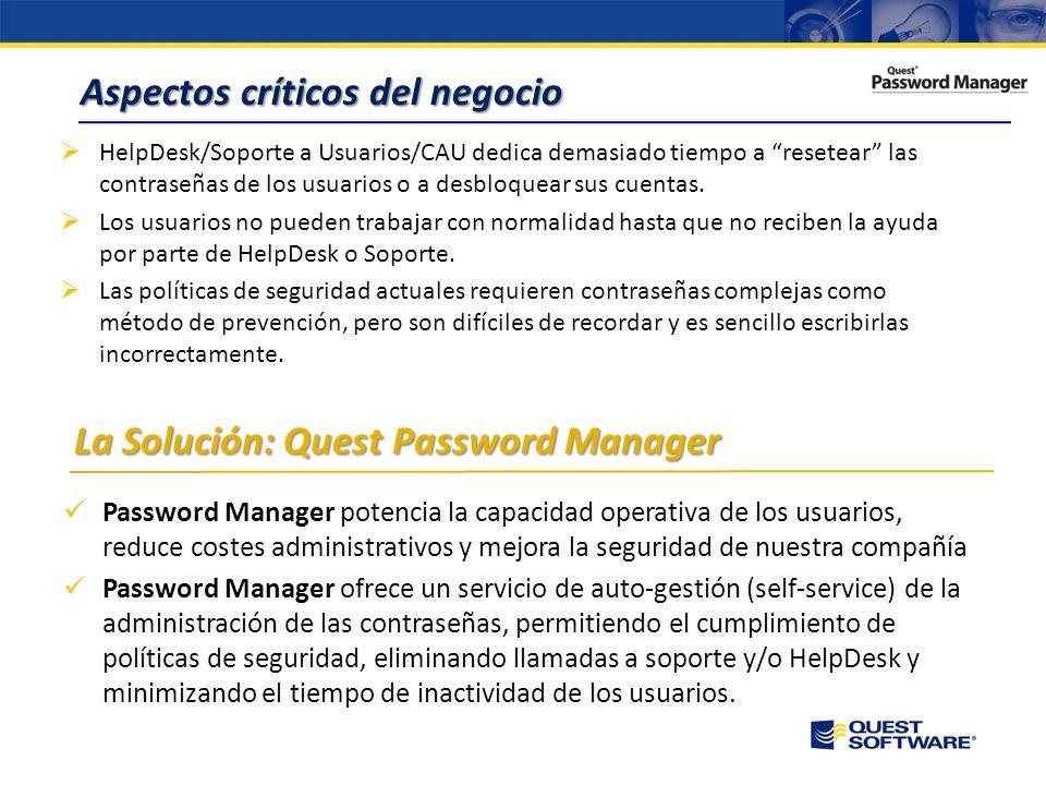 Copyright © 2008 Quest Software Gestión eficiente de contraseñas en Directorio Activo