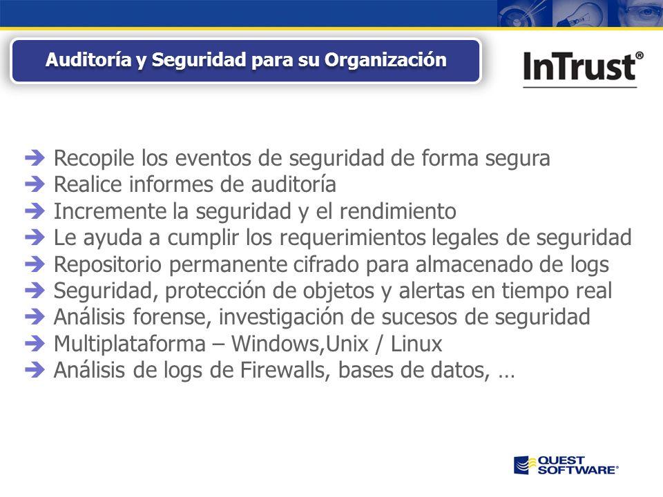 Copyright © 2008 Quest Software Seguridad, Protección y Auditoría Multiplataforma