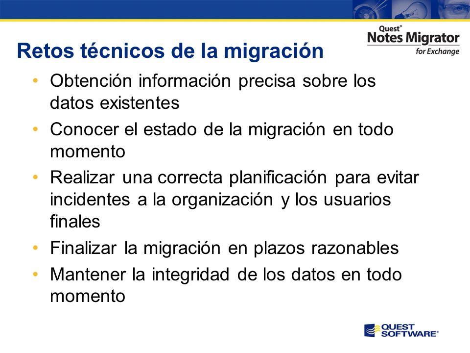 Es prioritario planificar la migración a Exchange en función del tiempo, recursos y características del entorno origen Domino/Notes. Las diferentes ca