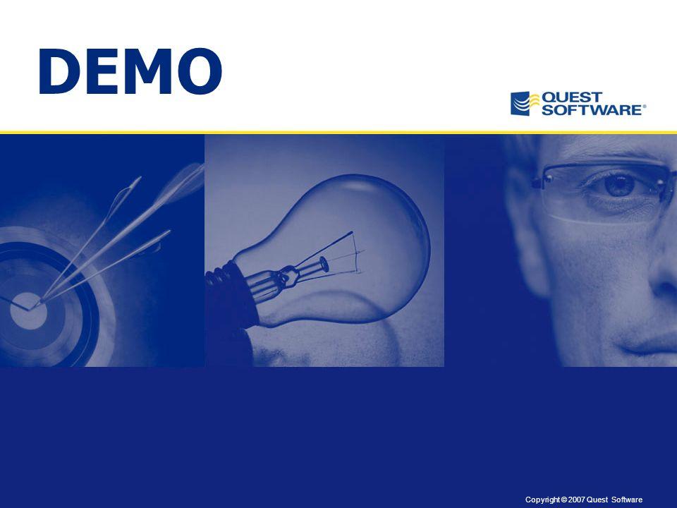 Copyright © 2007 Quest Software Preguntas y respuestas a través de Live Meeting