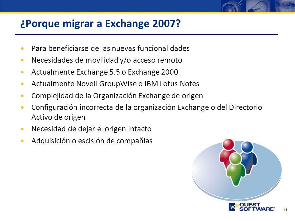 Copyright © 2007 Quest Software Retos y Planificación de la Migración