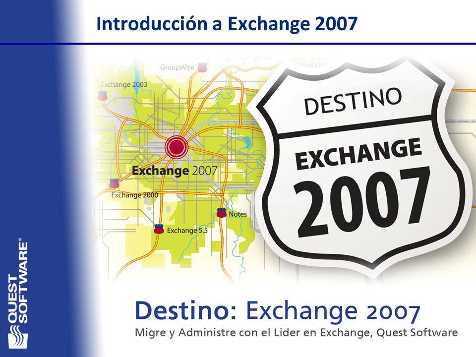 1 Agenda Migraciones a Exchange 2007 Introducción a Exchange 2007 Destino: Exchange 2007 Retos y planificación del proceso de migración Los diferentes