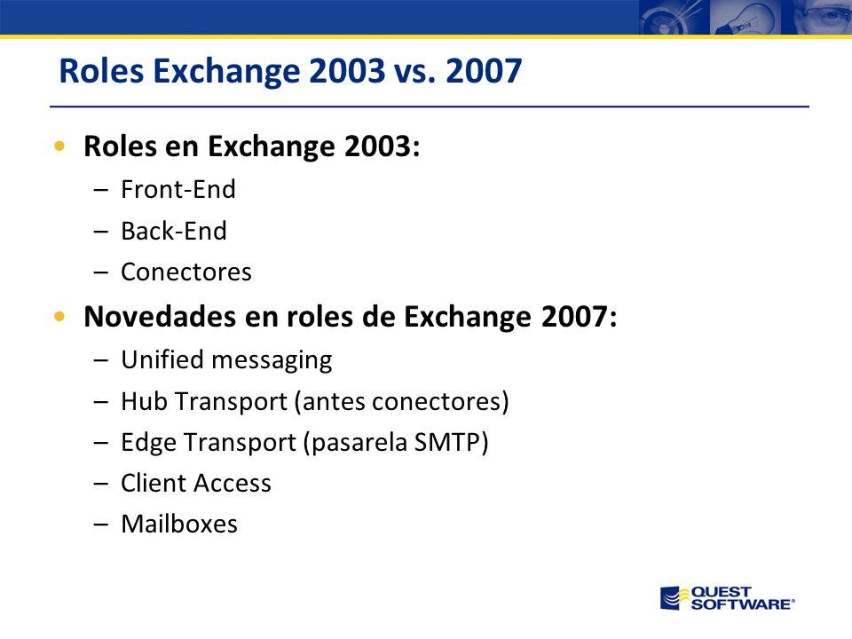 Roles Exchange 2003 vs.