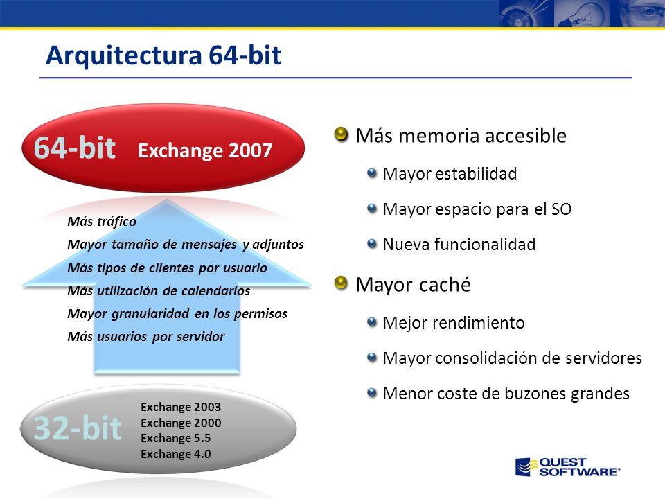 Roles Exchange 2003 vs. 2007 Roles en Exchange 2003: –Front-End –Back-End –Conectores Novedades en roles de Exchange 2007: –Unified messaging –Hub Tra