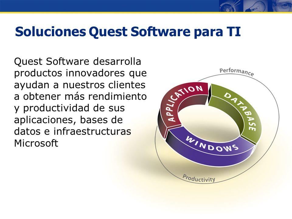 Copyright © 2007 Quest Software Gestión de Infraestructuras Microsoft Francisco Albares Director General Eventos Regionales