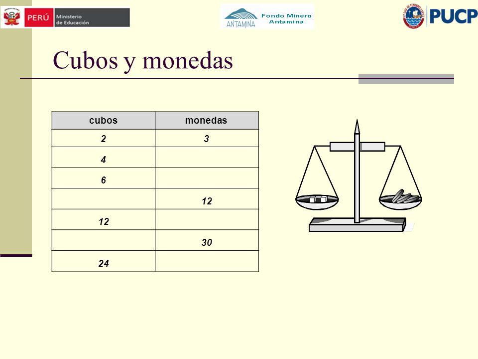 Cubos y monedas cubosmonedas 23 4 6 12 30 24
