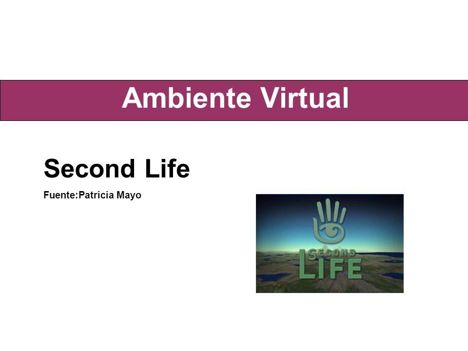 Ambiente Virtual Second Life Fuente:Patricia Mayo