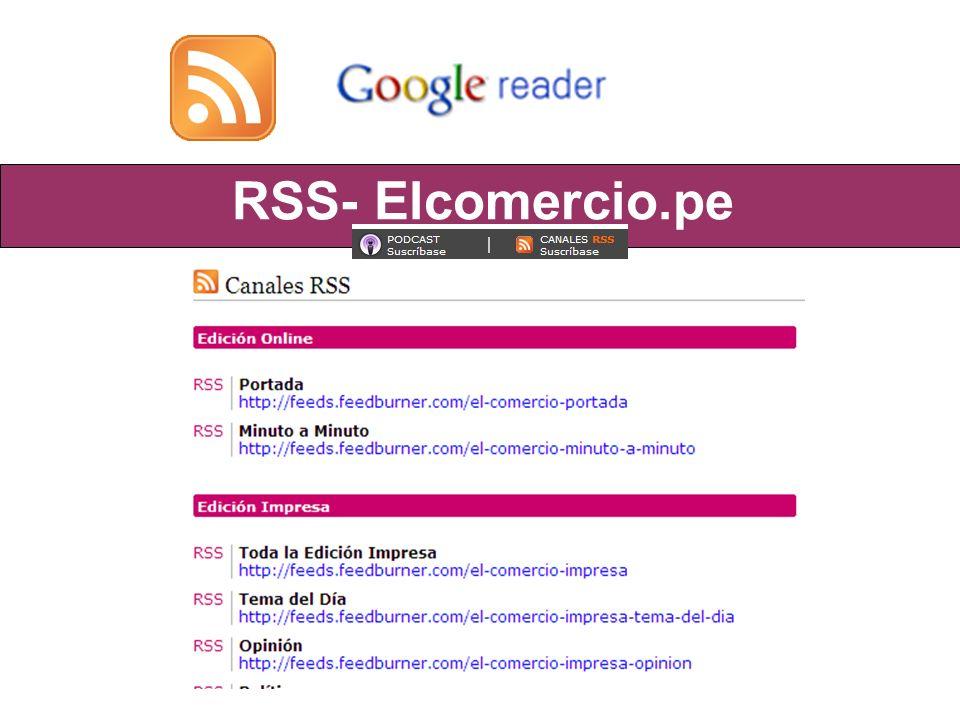 RSS- Elcomercio.pe