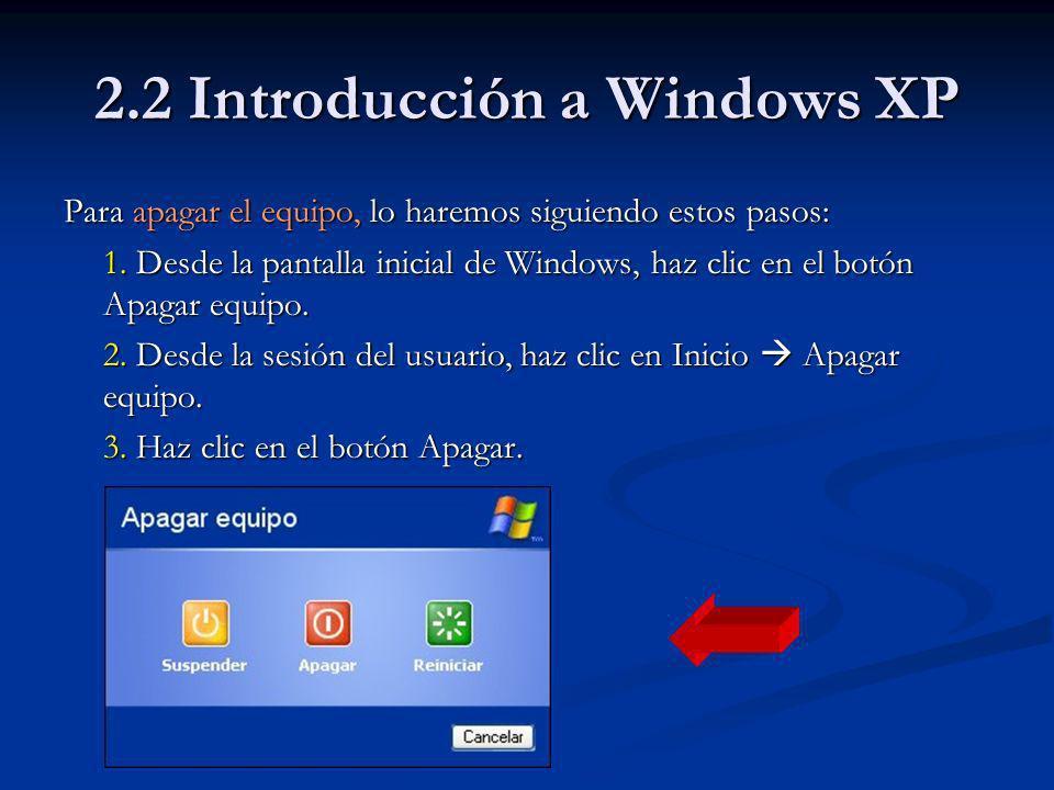 2.3 Entorno Windows XP Cambiar el tamaño y la forma de las ventanas Cambiar el tamaño y la forma de las ventanas Para adecuar el tamaño y la forma de una ventana a nuestras necesidades es necesario seguir los pasos que se indican a continuación: 1.