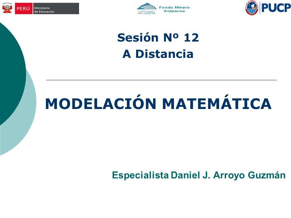 Especialista Daniel J. Arroyo Guzmán MODELACIÓN MATEMÁTICA Sesión Nº 12 A Distancia
