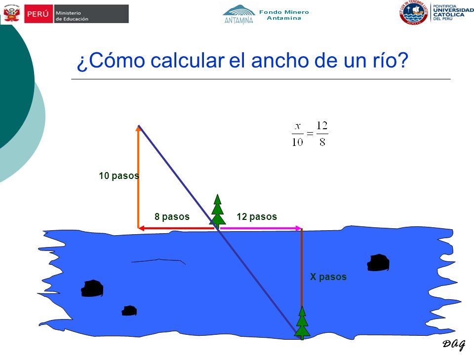 ¿Cómo calcular el ancho de un río? 8 pasos 10 pasos 12 pasos X pasos DAG