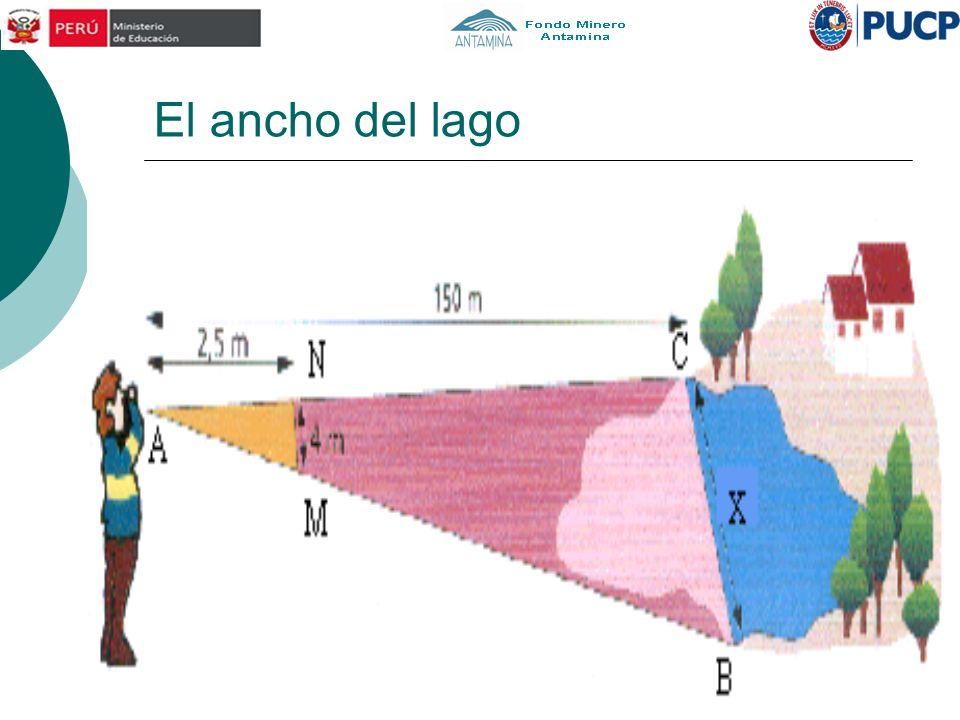 La altura del edificio Halla la altura del edificio sabiendo que: La mesa tiene 1 m de altura, AB=80 cm BC=52 cm