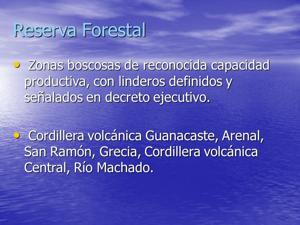 Zonas protectoras Son áreas de bosque o terreno forestales establecidos por la disposición de la ley y destinados a proteger suelos y mantener y regul