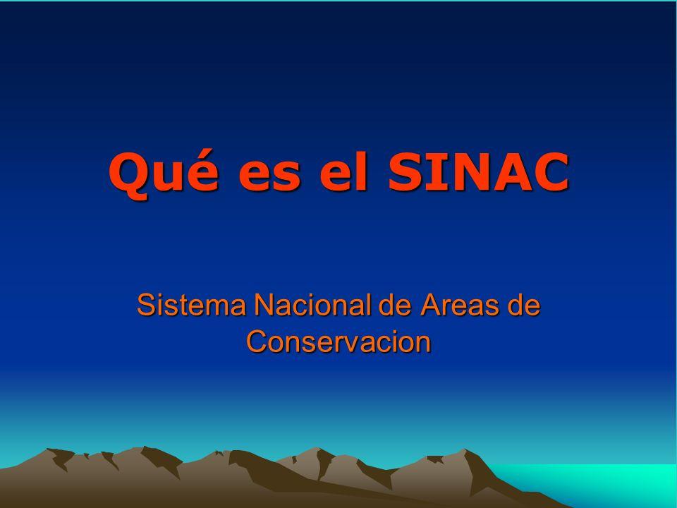 Qué es el SINAC Sistema Nacional de Areas de Conservacion