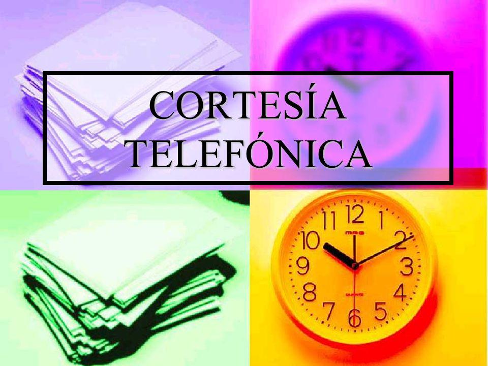 CORTESÍA TELEFÓNICA
