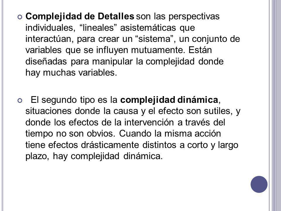 L A ESENCIA DE LA DISCIPLINA DE PENSAMIENTO SISTÉMICO RADICA EN UN CAMBIO DE ENFOQUE : Ver las interrelaciones en vez de las concatenaciones lineales de causa – efecto; y Ver los procesos de cambio en vez de instantáneas.