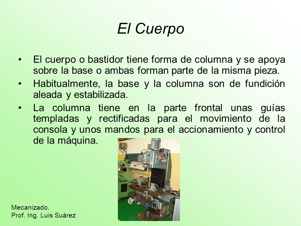 Aristas y Superficies Los principales elementos y denominaciones de una fresa son: Mecanizado.