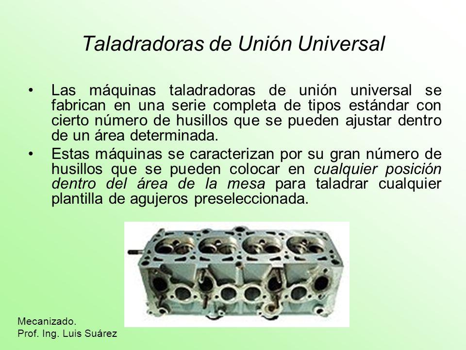 Taladradoras de Unión Universal Las máquinas taladradoras de unión universal se fabrican en una serie completa de tipos estándar con cierto número de