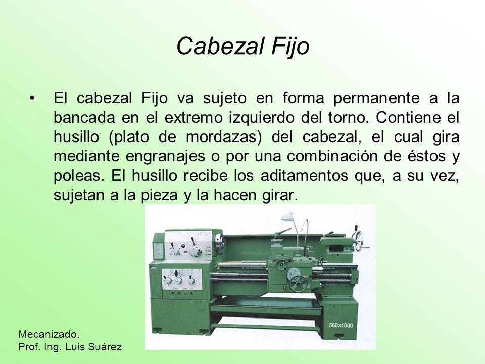 Cabezal Móvil El cabezal móvil o Contrapunta, consta de dos piezas de fundición, de las cuales una se desliza sobre la bancada y la otra puede moverse transversalmente sobre la primera, mediante uno o dos tornillos.