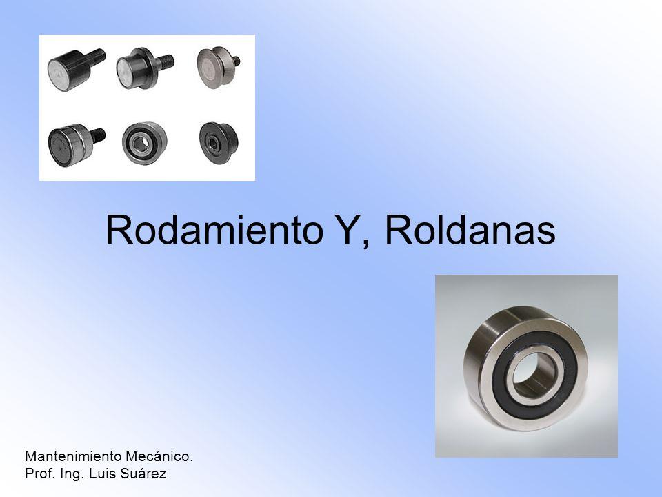 Rodamiento Y, Roldanas Mantenimiento Mecánico. Prof. Ing. Luis Suárez