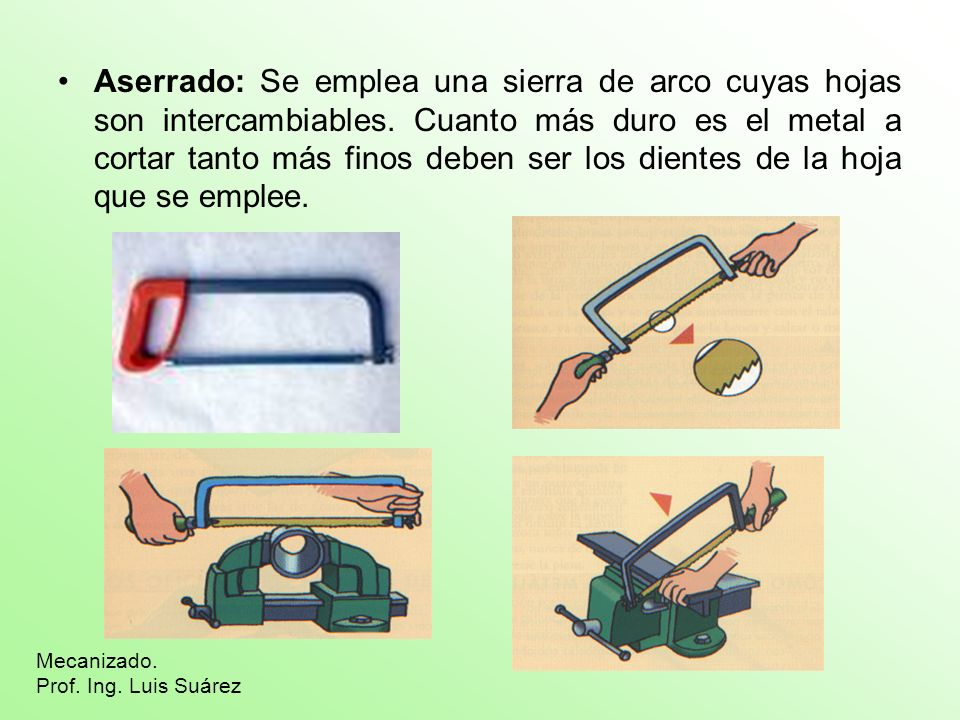 Limado Es la técnica que se emplea para rematar los cortes de las sierras, eliminar las rebabas, redondear cantos, aplanar o curvar superficies.
