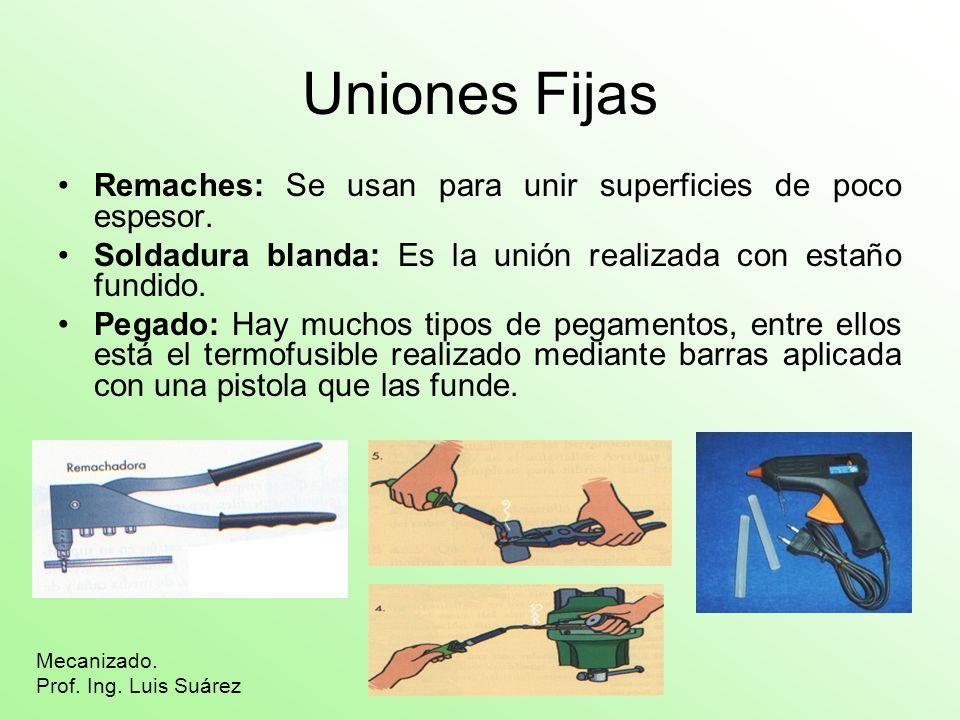 Uniones Desmontables Tornillos y tuercas: Los hay con infinidad de formas y tamaños.