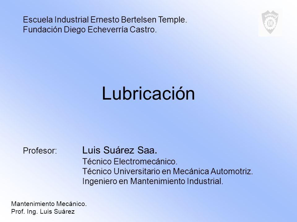 Mantenimiento Mecánico. Prof. Ing. Luis Suárez Lubricación por Cadena.