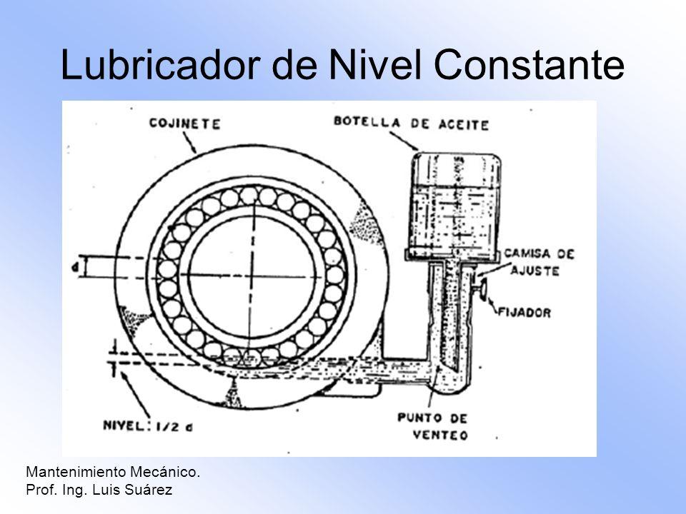 Mantenimiento Mecánico. Prof. Ing. Luis Suárez Lubricador de Nivel Constante