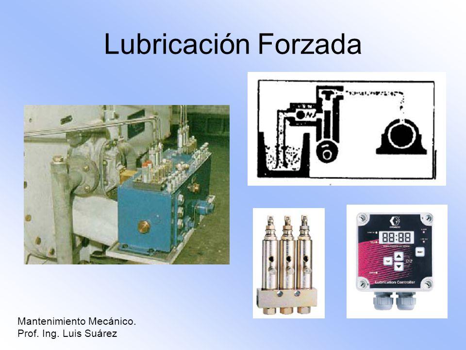Mantenimiento Mecánico. Prof. Ing. Luis Suárez Lubricación Forzada