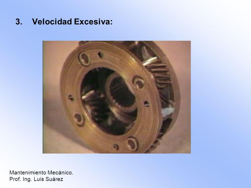 3.Velocidad Excesiva: Mantenimiento Mecánico. Prof. Ing. Luis Suárez