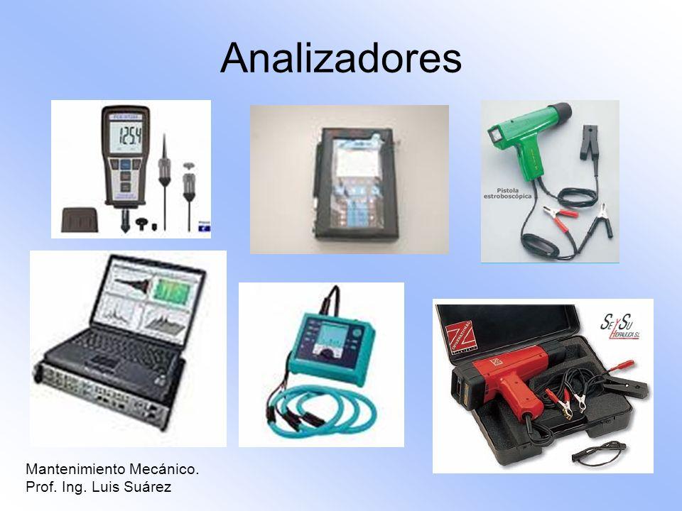 Analizadores Mantenimiento Mecánico. Prof. Ing. Luis Suárez