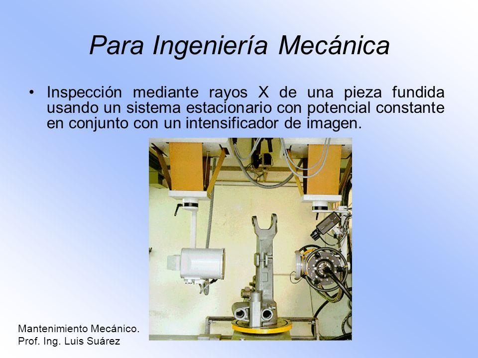 Para Ingeniería Mecánica Inspección mediante rayos X de una pieza fundida usando un sistema estacionario con potencial constante en conjunto con un in