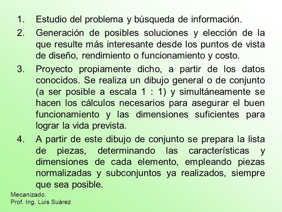 Mecanizado. Prof. Ing. Luis Suárez