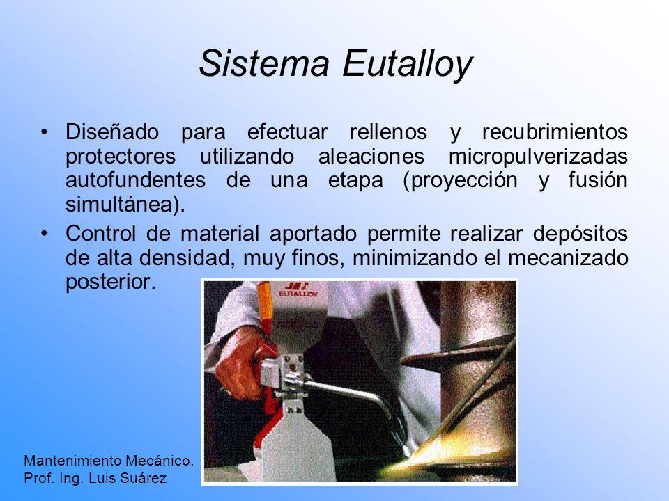 Sistema Eutalloy Diseñado para efectuar rellenos y recubrimientos protectores utilizando aleaciones micropulverizadas autofundentes de una etapa (proy