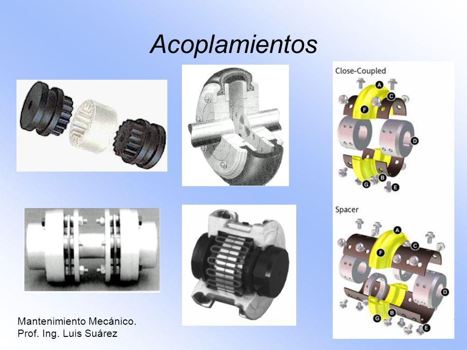 Acoplamientos Mantenimiento Mecánico. Prof. Ing. Luis Suárez