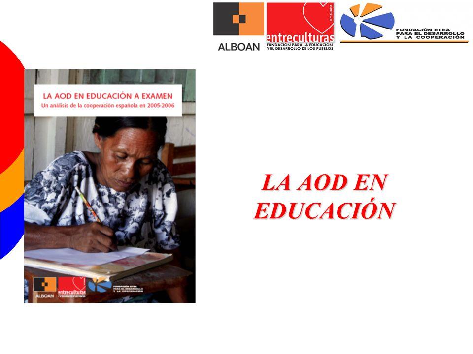 MARCO DE REFERENCIA DE LA AOD EDUCACIÓN 1) Marco institucional 2) Marco normativo 3) Marco de intervención 1) Marco institucional: -Nacionales (MAEC, MEC, F.