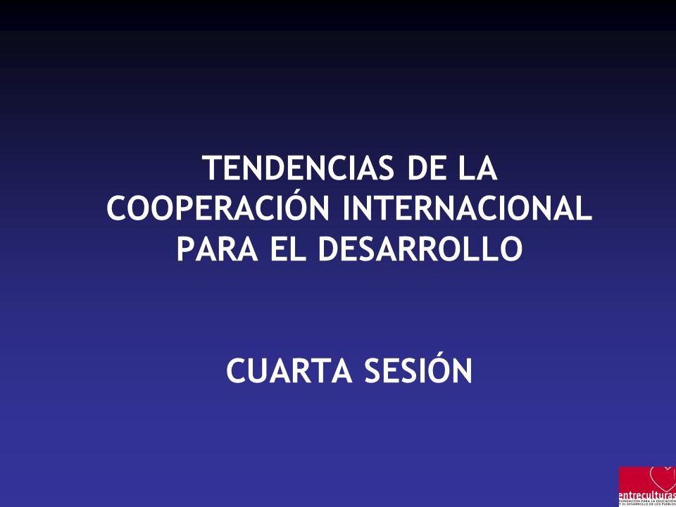 TENDENCIAS DE LA COOPERACIÓN INTERNACIONAL PARA EL DESARROLLO CUARTA SESIÓN