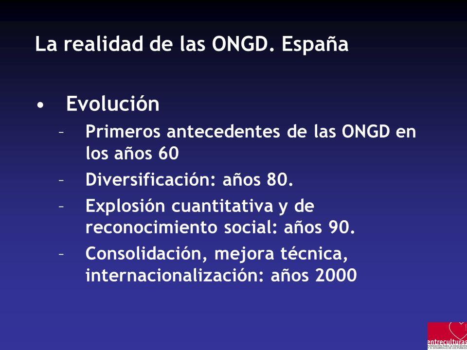 La realidad de las ONGD.