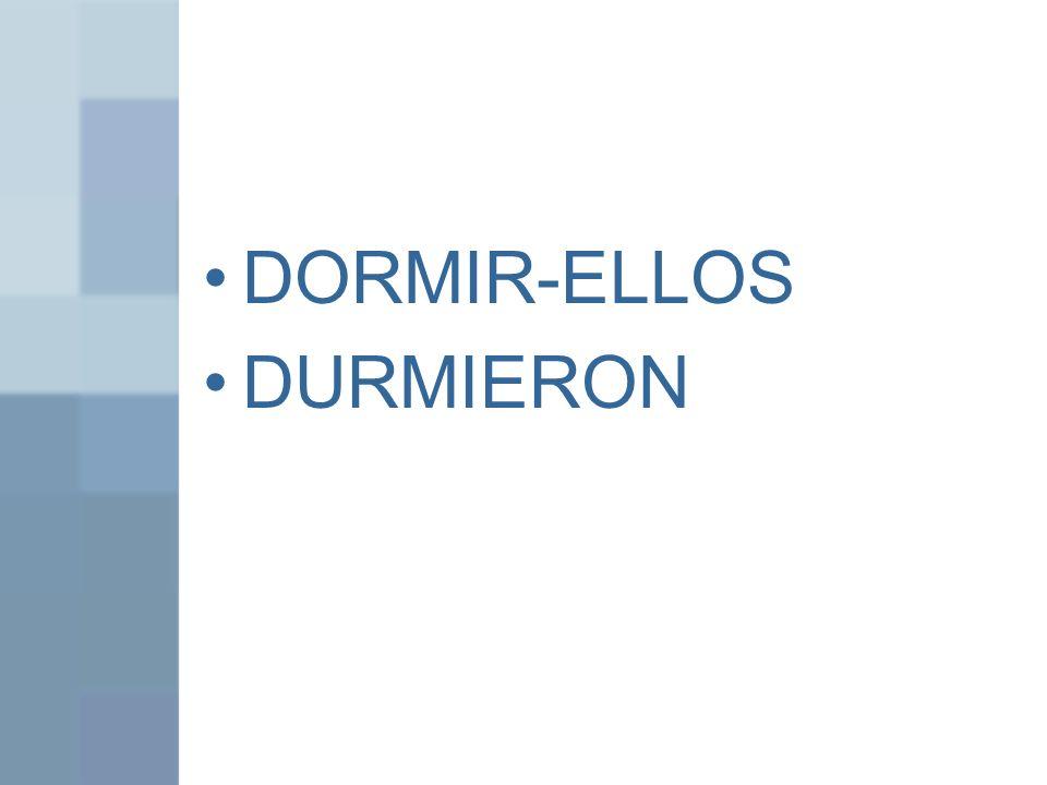 DORMIR-ELLOS DURMIERON