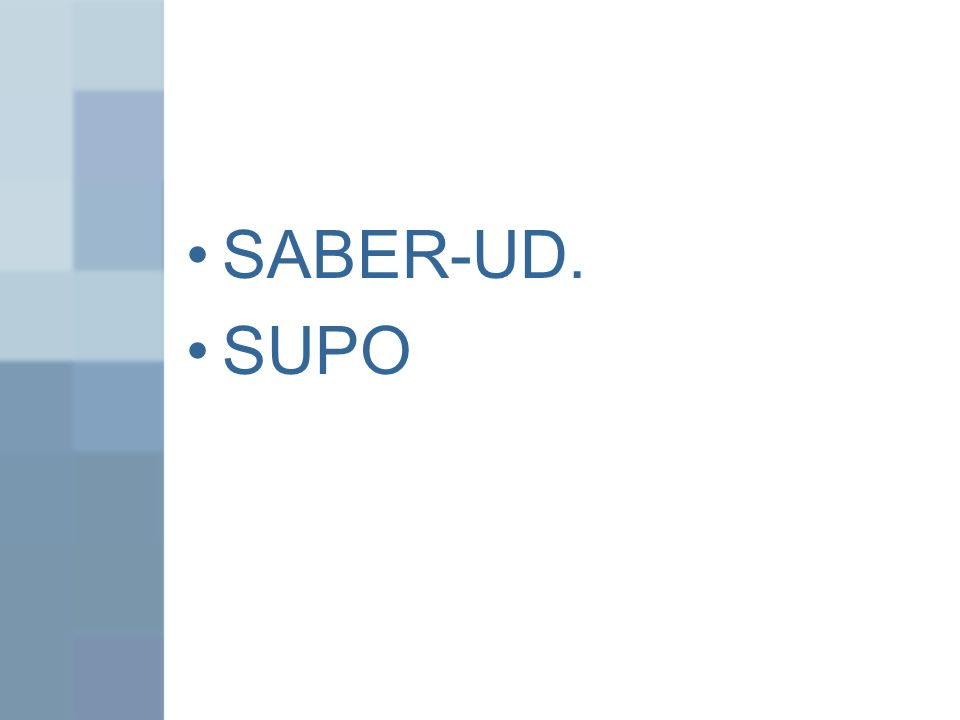 SABER-UD. SUPO