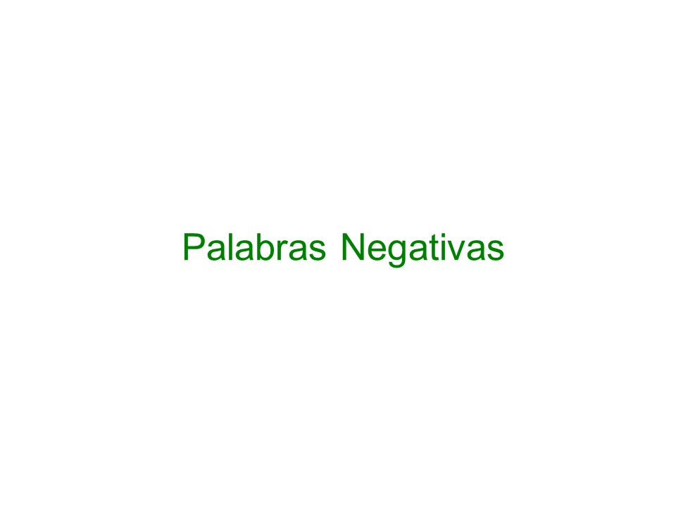 Palabras Negativas