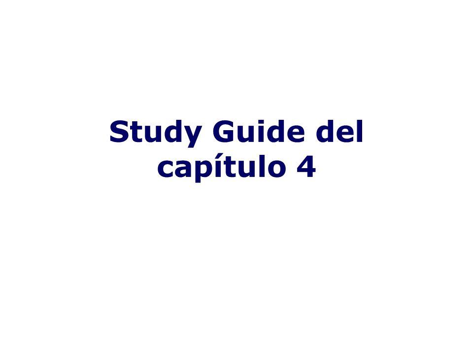 Study Guide del capítulo 4