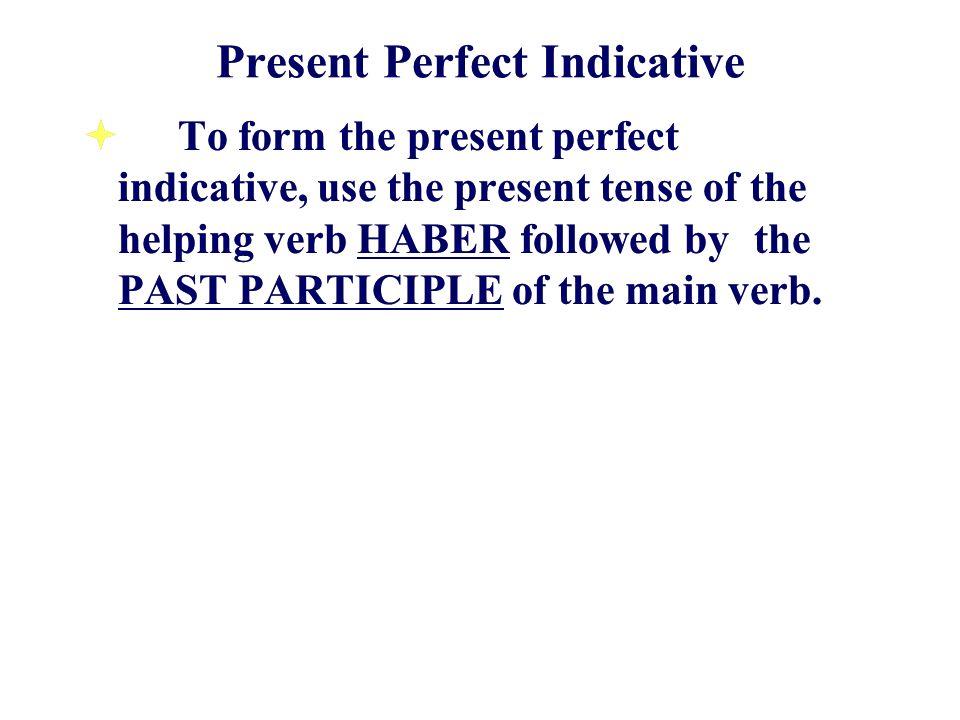 HABER HE HAS HA HEMOS HAN