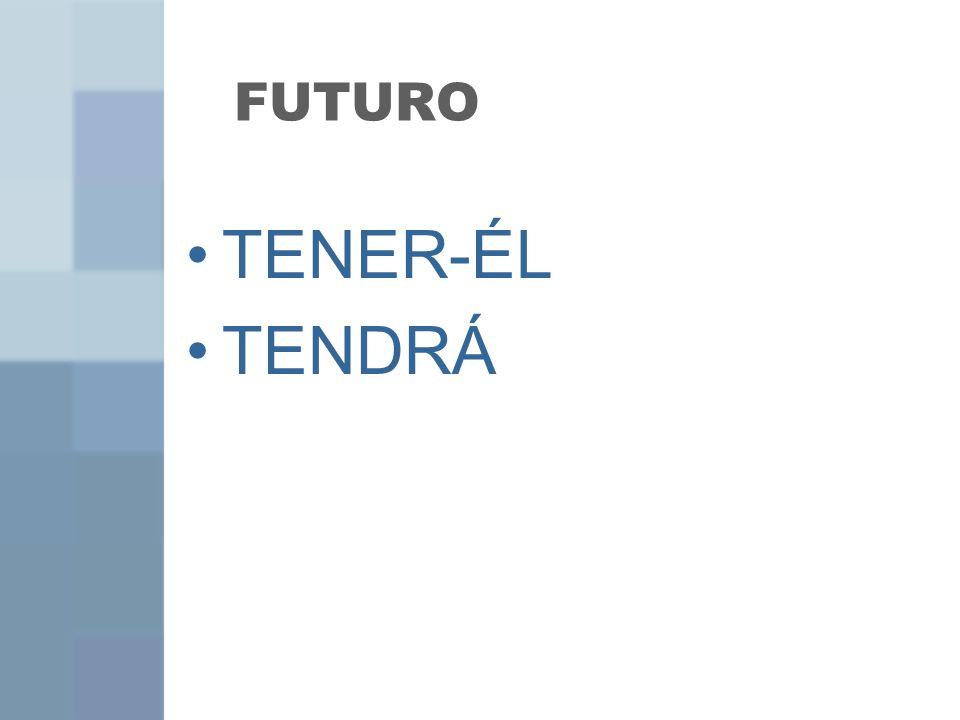 FUTURO TENER-ÉL TENDRÁ