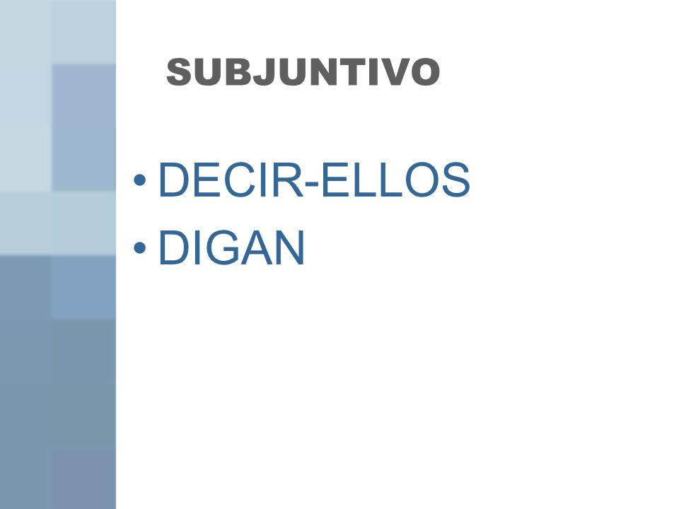 SUBJUNTIVO DECIR-ELLOS DIGAN
