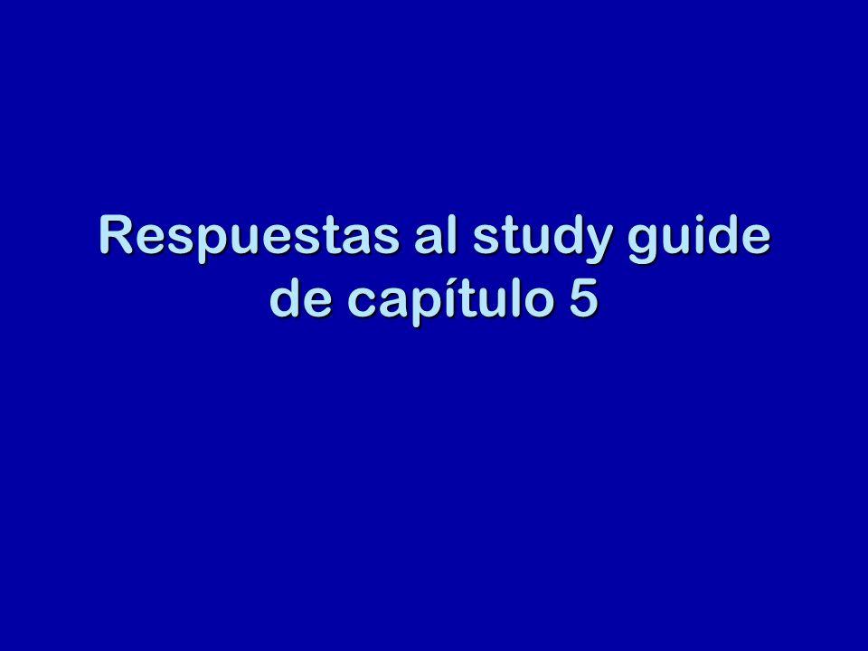 Respuestas al study guide de capítulo 5