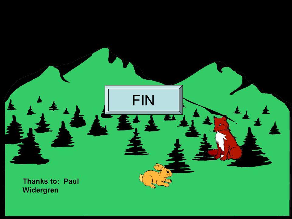 FIN Thanks to: Paul Widergren